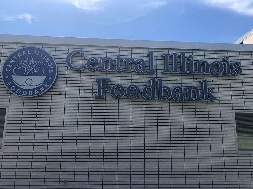 sign for Central IL Food Bank